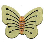 Craft Wood Butterfly Yellow Embellishment
