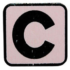 Craft Wood C Baby Pink Embellishment