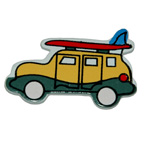 Craft Wood Surf Car Embellishment