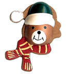 Craft Wood Christmas Bear Embellishment