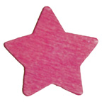 Craft Wood Dark Pink Star Embellishment