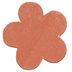 Craft Wood Flower Orange Embellishment