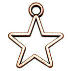 Metal Embellishment Bronze Star Hollow