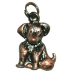 Metal Embellishment Bronze Dog