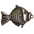 Metal Embellishment Bronze Fish