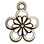 Metal Embellishment Bronze Flower