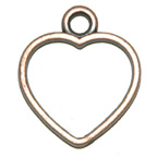 Metal Embellishment Bronze Heart Hollow