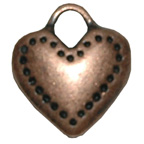 Metal Embellishment Bronze Solid Heart
