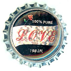 Metal Embellishment Bottle Top 100% Pure Love