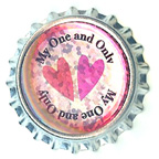 Metal Embellishment Bottle Top My One and Only