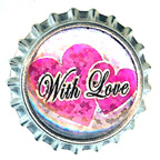 Metal Embellishment Bottle With Love