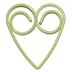 Paper Clip Heart Yellow