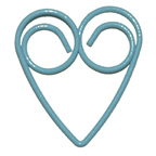 Powder Blue Heart Paper Clip