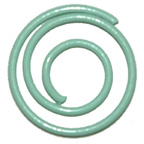 Paper Clip Green Swirl Large