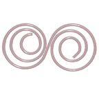 Paper Clip Pink Double Swirl