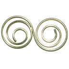 Paper Clip Gold Double Swirl