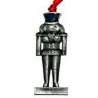 Xmas Soldier Silver Metal Embellishment