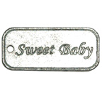 Embellishment Sweet Baby Tag
