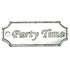Tag Party Time Embellishment