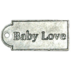 Embellishment Baby Love Tag