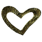 Metal Embellishments Gold Heart Small