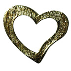 Metal Embellishments Gold Heart Large