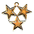 Metal Embellishments Gold Three Stars Joined