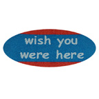 Fabric Patch Wish You Were Here