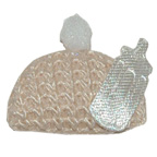 Cream Baby Hat Embroidery Embellishment