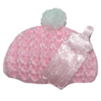 Pink Baby Hat Embroidery Embellishment