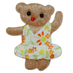 Brown Teddy Bear Embroidery Embellishment
