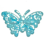 Blue Metallic Butterfly Embroidery Embellishment