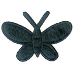 Black Butterfly Embroidery Embellishment