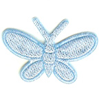Pale Blue Butterfly Embroidery Embellishment