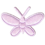 Lilac Butterfly Embroidery Embellishment