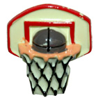Basket Ball and Hoop Button Embellishment