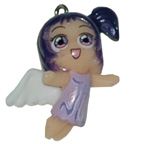 Angel Purple Charm Embellishment
