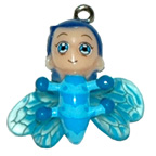Bug Boy Blue Charm Embellishment