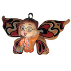 Butterfly Girl Orange Charm Embellishment