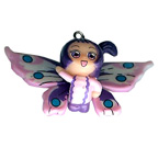 Butterfly Girl Purple Charm Embellishment