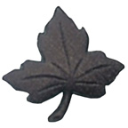 Maple Leaf Button Brown