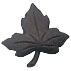 Maple Leaf Button Brown Small