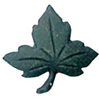 Maple Leaf Button Green Small