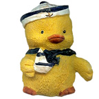 Sailor Duck With Boat Resin Embellishment