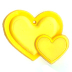Rubber Yellow Heart