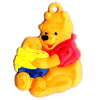 Rubber Pooh Bear With Honey Embellishment