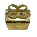 Gold Butterfly Hologram Bow Box