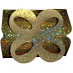 Gold Sparkle Hologram Bow Box