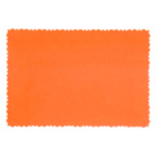 9.5x6.5cm Deckle Edge Card Orange