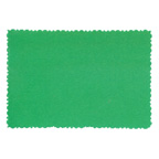 9.5x6.5cm Deckle Edge Card Green
